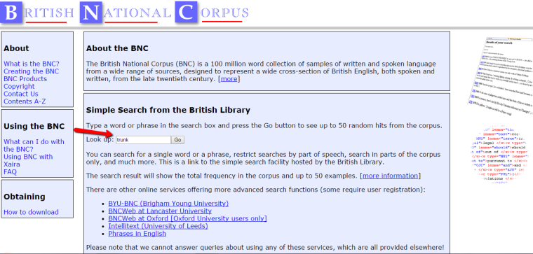 Home_page_British_National_Corpus