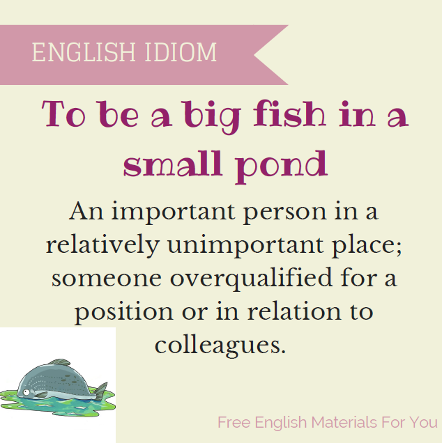 To be a big fish in a small pond
