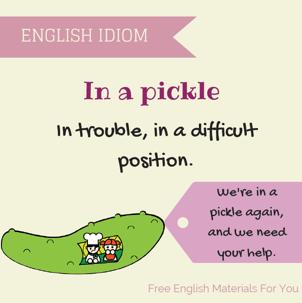 Visual Idioms Free English Materials For You