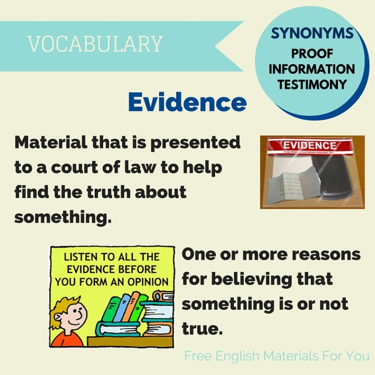 meaning of evidence- English vocabulary - Free English Materials For You - femfy (1).jpg