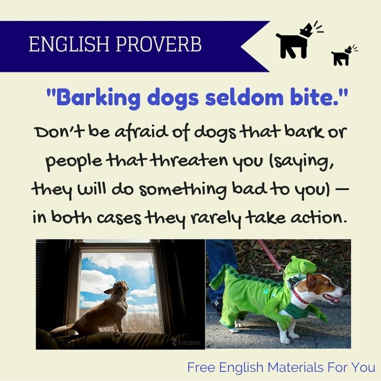 Barking dogs seldom bite