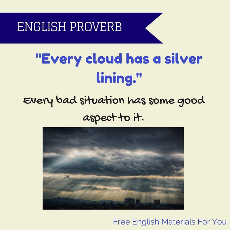Every cloud has a silver lining meaning essay
