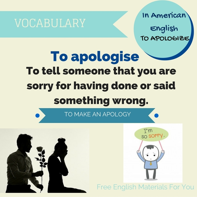 TO APOLOGISE