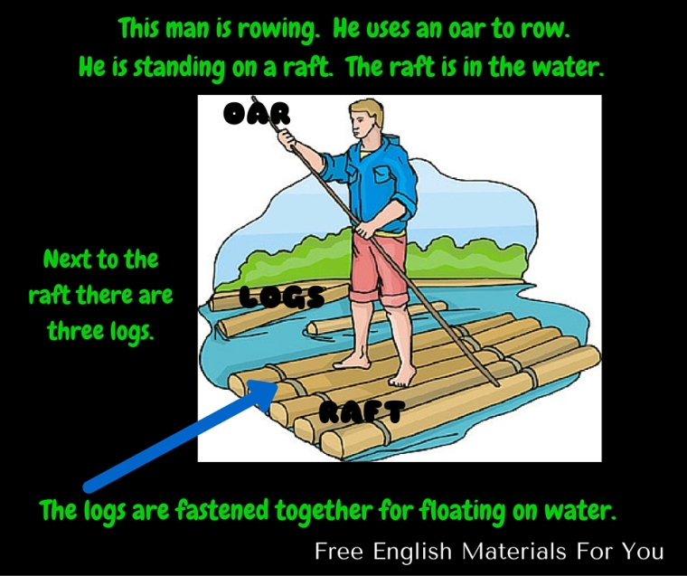 Visual Vocabulary - raft row logs fasten floating.jpg