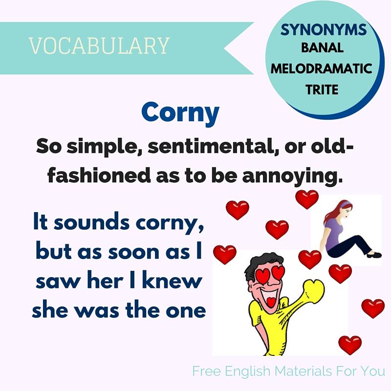 Corniness definition