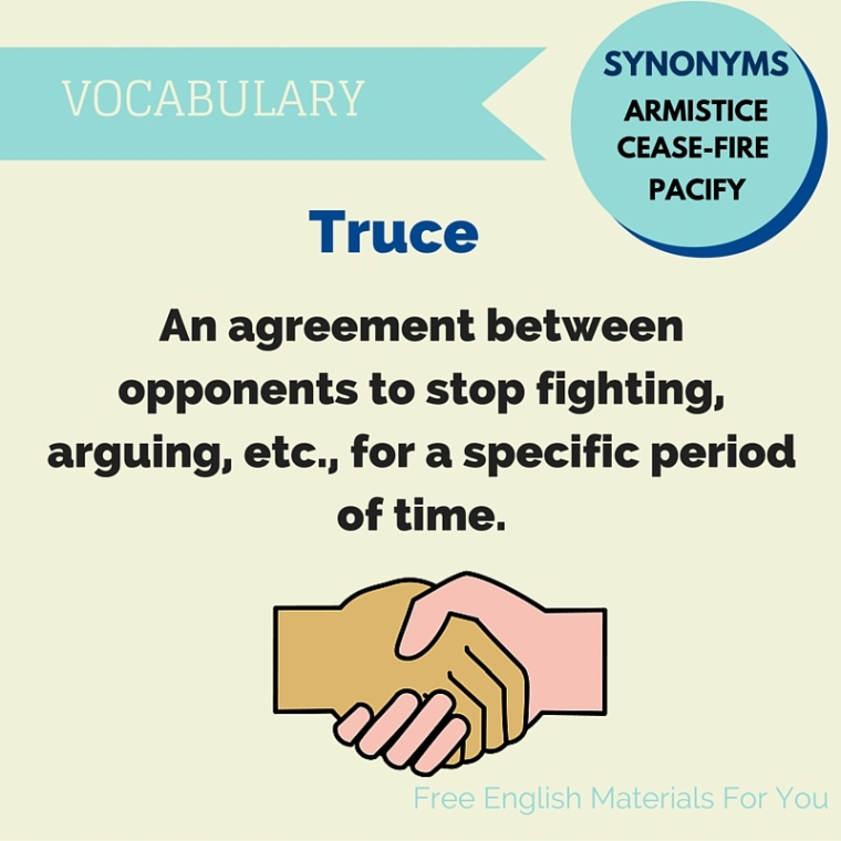 truce meaning - English vocabulary - Free English Materials For You - femfy.jpg