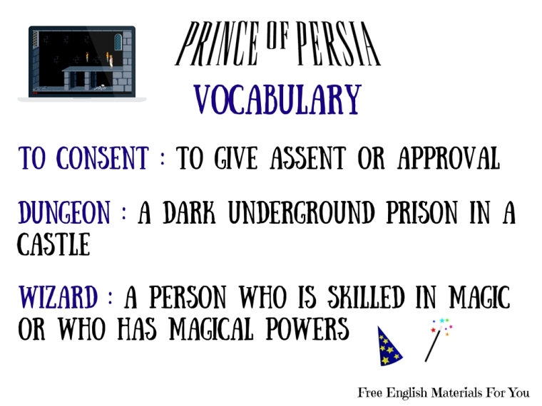 VOCABULARY LIST - episode 5 - English4Gamers - Free English Materials For You - Prince Of Persia (5)