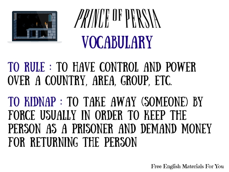 VOCABULARY LIST - episode 5 - English4Gamers - Free English Materials For You - Prince Of Persia.jpg