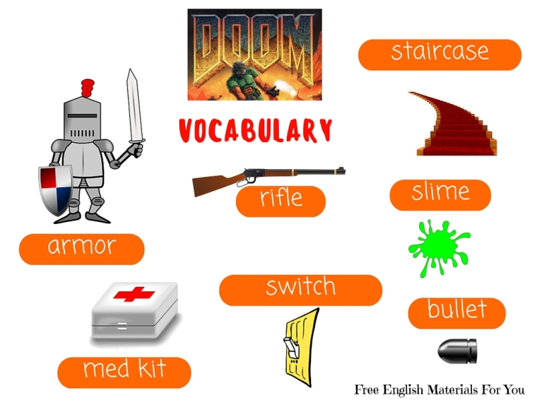 VOCABULARY LIST - episode 8 - English4Gamers - Free English Materials For You - Doom.jpg