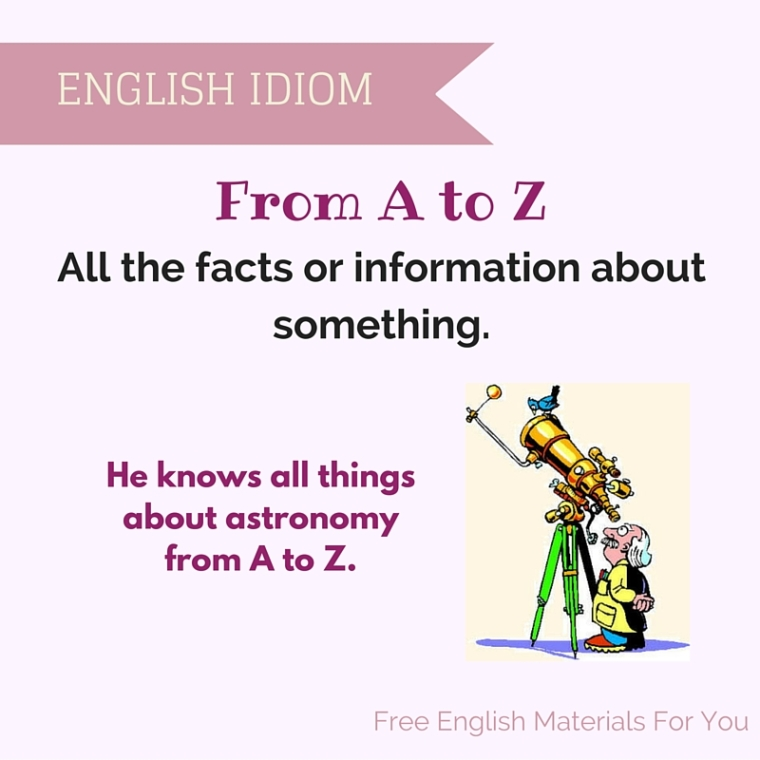 from a to z meaning - English idiom - Free English Materials For You - femfy.jpg