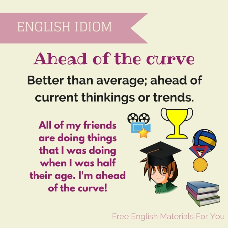meaning of ahead of the curve - English Idiom - Free English Materials For You - femfy.jpg