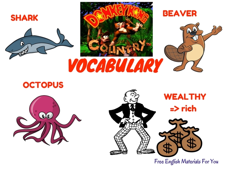 VOCABULARY LIST - episode 11 - English4Gamers - Free English Materials For You - Donkey Kong Country.jpg