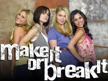 "MAKE IT OR BREAK IT - ABC Family's ""Make It or Break It,"" stars Cassie Scerbo as Lauren Tanner, Chelsea Hobbs as Emily Kmetko, Ayla Kell as Payson Keeler and Josie Loren as Kaylie Cruz. (ABC FAMILY/BOB D'AMICO)"